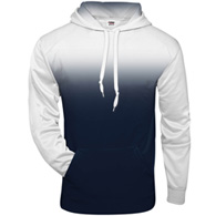 badger - ombre hooded sweatshirt