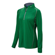 mizuno competition 1/2 zip hitting top