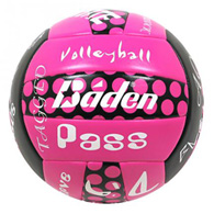 baden sayings polka dot volleyball